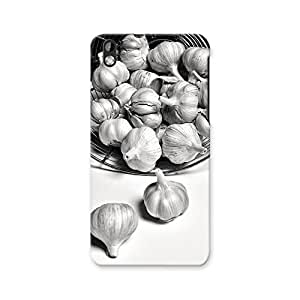 ArtzFolio Black And White Garlic : HTC Desire 816 Matte Polycarbonate ORIGINAL BRANDED Mobile Cell Phone Protective BACK CASE COVER Protector : BEST DESIGNER Hard Shockproof Scratch-Proof Accessories