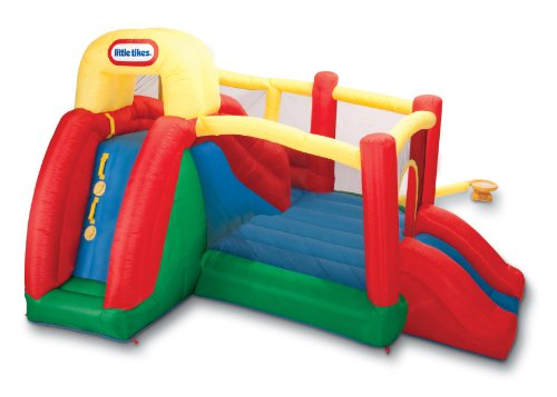 Little Tikes Double Fun Slide 'n Bounce Bouncer (Blow Up Play House compare prices)