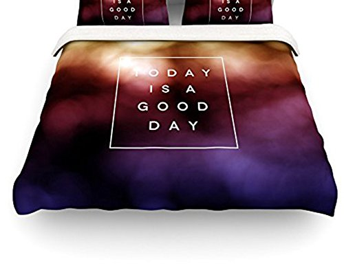 "Kess Inhouse Galaxy Eyes ""Good Day"" Rainbow Queen Cotton Duvet Cover, 88 By 88-Inch front-967476"