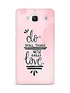 AMEZ do great things with love Back Cover For Xiaomi Redmi 2 Prime