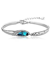 Valentine Gift : YouBella Valentine Collection Designer Crystal jewellery Bangle Bracelet for Girls and Women
