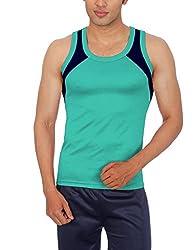 Sportee Men's Polyester Vest (Rtiv01Pp01G03_Green_Medium)