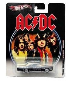 "Hot Wheels 2012, AC/DC '72 Ford Ranchero ""Back In Black. 1:64 Scale."