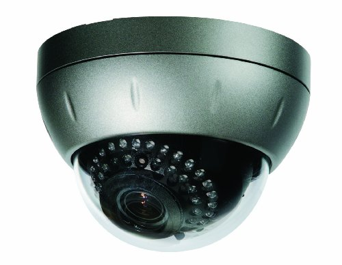 Clover Electronics HDC211 Weather Resistant Night Vision Dome Camera with Vari-focal Lens - Small (Silver)