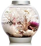 Baby biOrb Aquarium with LED Light, Silver, 4 Gallons