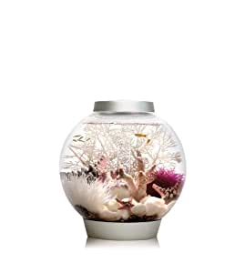 Baby biOrb Aquarium with LED Light, Silver, 4 Gallons