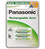 Panasonic rechargeable battery P03P AAA 750 mAh, NiMH, 3er Blister - Mikro, ideal for DECT Geräte, P03P/3BC800