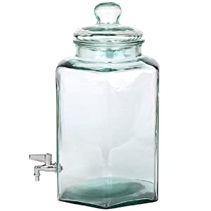 Glass Beverage Dispenser Jar 3 With Metal Spigot 3