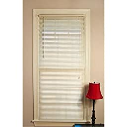 Mainstays Room Darkening Mini Blinds, Off-White Size: 29x64