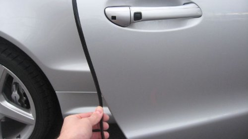 Black Door Edge L Shape Molding Kit With 3M Tape (12 Foot) (Honda Accord 2011 Door compare prices)