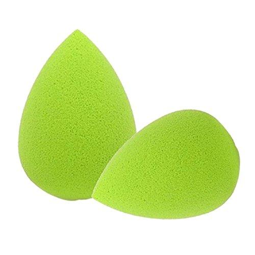 lookatool-2pc-water-droplets-soft-beauty-makeup-sponge-green