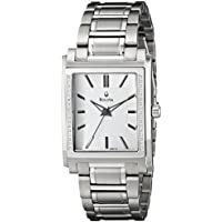 Bulova Diamond White Dial Stainless Steel Mens Watch