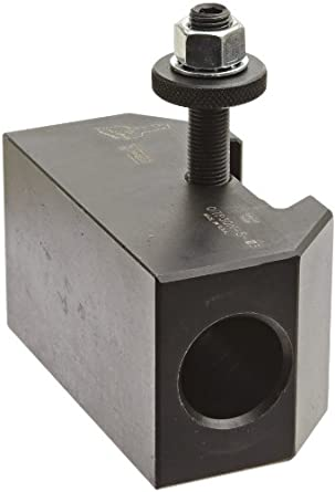 "Dorian Tool QITPN-5 Chromium Molybdenum Alloy Steel Quick Change Morse Taper Toolholder for QITP30N Quadra Indexing Quick Change Tool Post, MT3, 2"" Height"