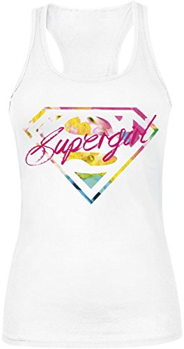 Supergirl Colourful Logo Top donna bianco XL