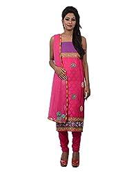 Mumtaz Sons Women's Cotton Unstitched Dress Material (MS111413B,Rani)