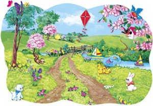 Spring Scene Flannelboard - Spring Blossom Pre-cut Set - 1