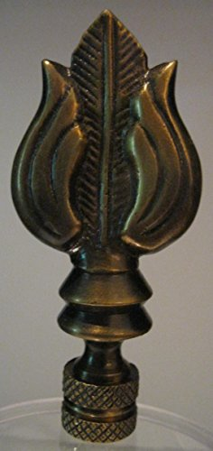Acanthus leaf lamp finial antique brass home garden for Acanthus leaf decoration