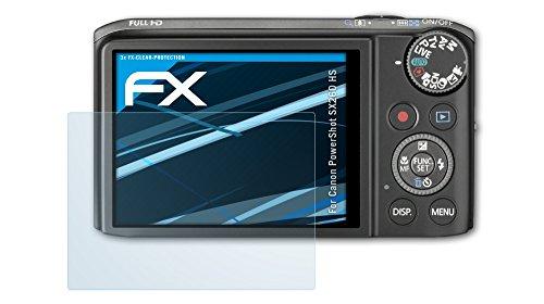 3 x atFoliX Displayschutzfolie Canon PowerShot SX260 HS Schutzfolie - FX-Clear kristallklar