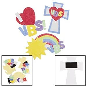 Vbs sand art magnets craft kit vacation for Bible school craft supplies