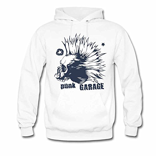 Punk Skull Garage Hooded Sweatshirt Women's Hoodies XL