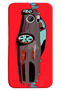 Omnam Car Printed Designer Back Cover Case For HTC 10