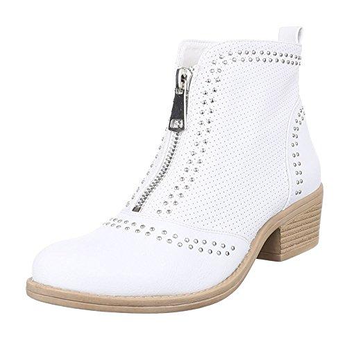 Ital-Design - Stivali Donna , Bianco (bianco), 38