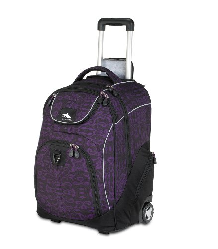 High Sierra 2350-Cubic Inches Powerglide Wheeled Daypack (Plum Lace, Black)
