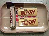 Raw Rolling Tray + Raw 110mm Roller + Raw King Size Rolling...