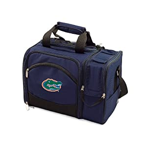 NCAA Florida Gators Malibu Picnic Tote with Deluxe Picnic Service for Two by Picnic Time