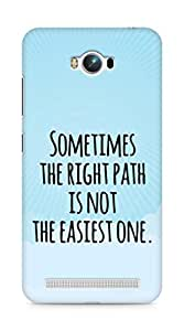 AMEZ the right path is not easy Back Cover For Asus Zenfone Max ZC550KL