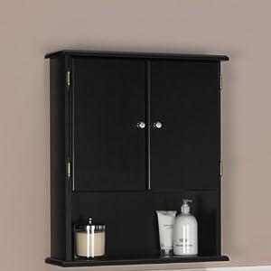 ameriwood bathroom wall cabinet in espresso 5305045