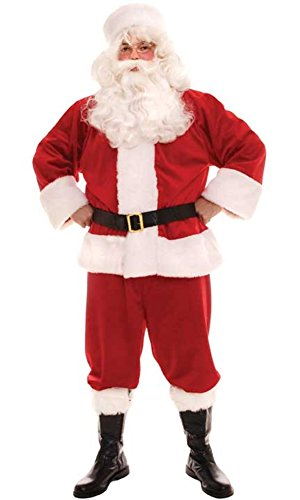 Adult Mens' Traditional Santa Claus Costume (Size 40-44)