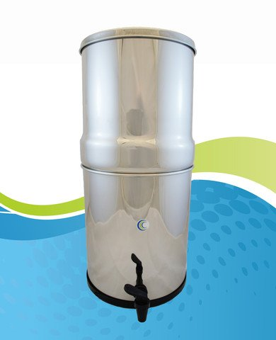 Aquacera Pioneer SS Gravity Water Filter with 2 7 inch CeraMetix Filters (Nitrate Water Filter compare prices)