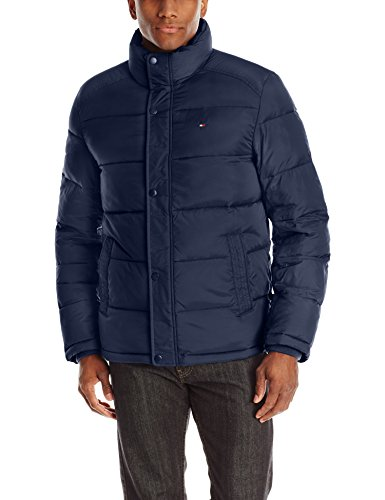 Men's Nylon Puffer Jacket, Royal Blue, X-Large