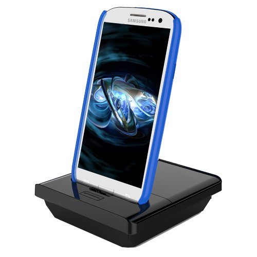 Rnd Dock And 2Nd Battery Charger For Samsung Galaxy S Iii (3) (With Audio Out) (Compatible Without Or With A Slim-Fit Case)