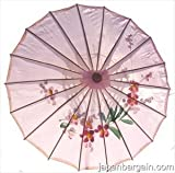 Asian Japanese Chinese Umbrella Parasol 32in Pink 156-1
