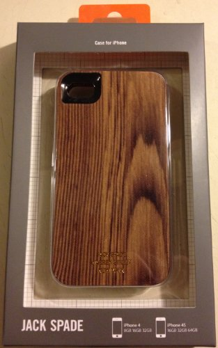 Jack Spade Woody Hard Case for iPhone 4/4, style # PYRU0185A (Jack Spade Iphone 4s Case compare prices)