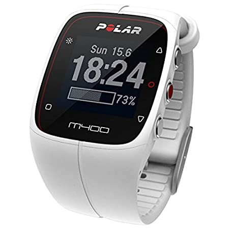 Polar Watches 90051347 Unisex M400 White GPS Sport Watch With Activity And Calorie Tracking With HRM