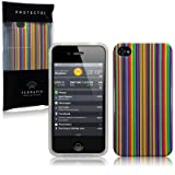 IPHONE 4S / IPHONE 4 IMAGE TPU GEL SKIN / CASE / COVER - MULTICOLOUR STRIPS PART OF THE QUBITS ACCESSORIES RANGE