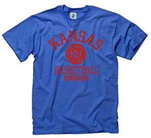 Buy Kansas Jayhawks Adult Basically Basketball T-Shirt by Kansas Jayhawks