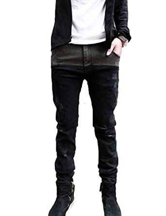 Ushoppingcart Mens Jeans Skinny Straight Fit Pencil Pants Trousers Fashion (Asian Size: 32(US 31))