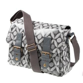 Retro Geometric Print PVC Satchel Bag