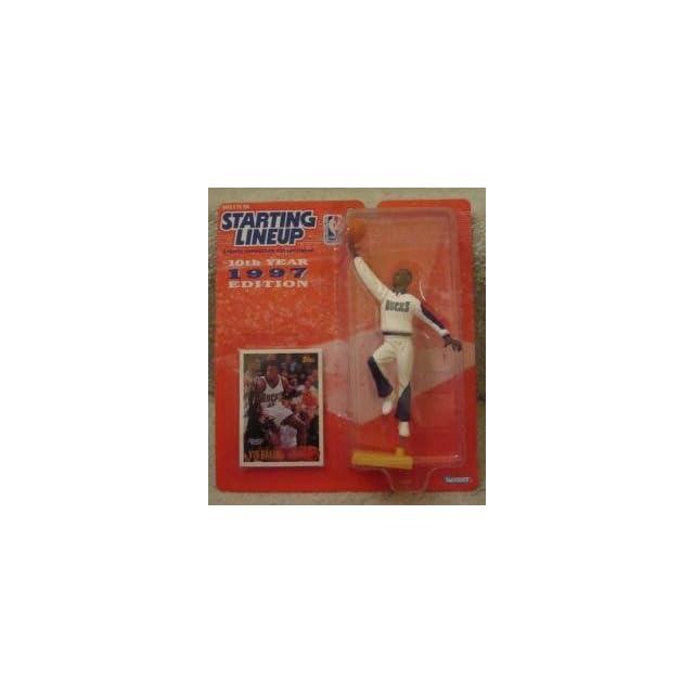 VIN BAKER / MILWAUKEE BUCKS * 1997 * NBA Kenner Starting Lineup & Exclusive TOPPS Collector Trading Card