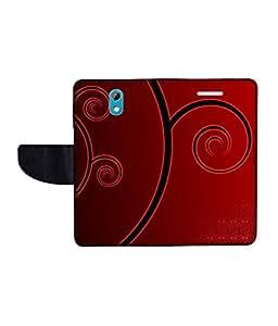 KolorEdge Printed Flip Cover For HTC Desire 526G Plus Multicolor - (50KeMLogo09931HTC526GPlus)