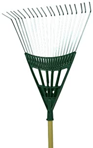 Seymour LF-22PS 22-Inch 20 Tine Poly Steel Leaf Rake with Wood Handle (Discontinued by Manufacturer)