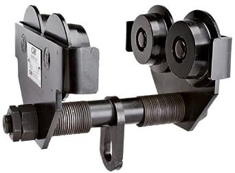 CM Series 633 Steel Manual Plain Wide Range Trolley, 1 ton Capacity