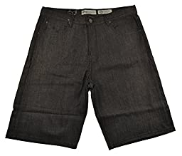 LRG CC Classic Denim Raw Black Men\'s Shorts (36)
