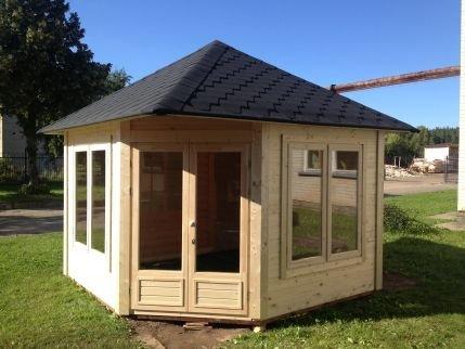 JUNIT Garten- Pavillon VIKY 8,5m² ohne Grill Gartenpavillon Partyhaus kaufen
