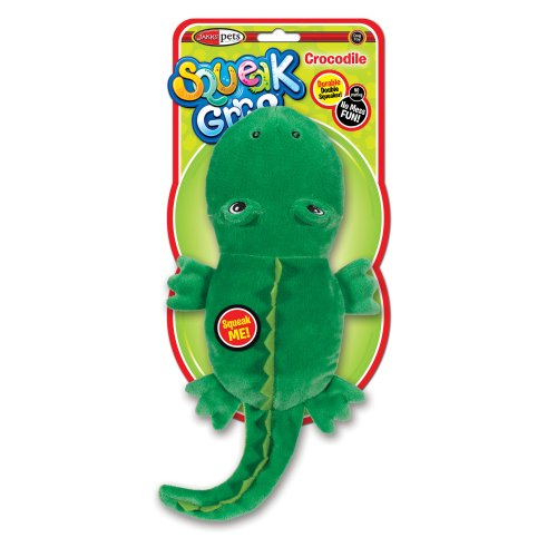SqueakGrrrs Crocodile Squeak Toy for Dogs, Large Picture