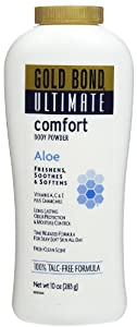 Gold Bond Ultimate Body Powder, Comfort, Aloe, 10 oz.